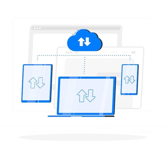 No conceito de ilustração de sincronização Vetor grátis