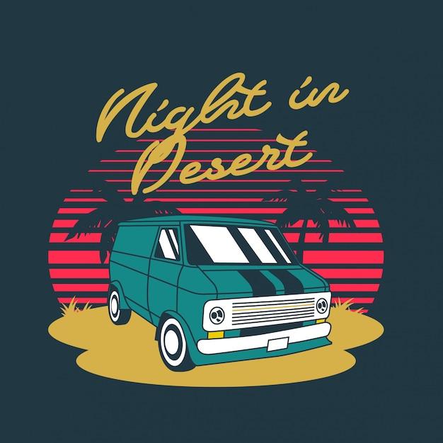 Noite em van deserto Vetor Premium