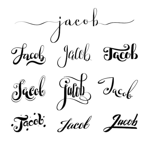 Nome pessoal jacob Vetor Premium