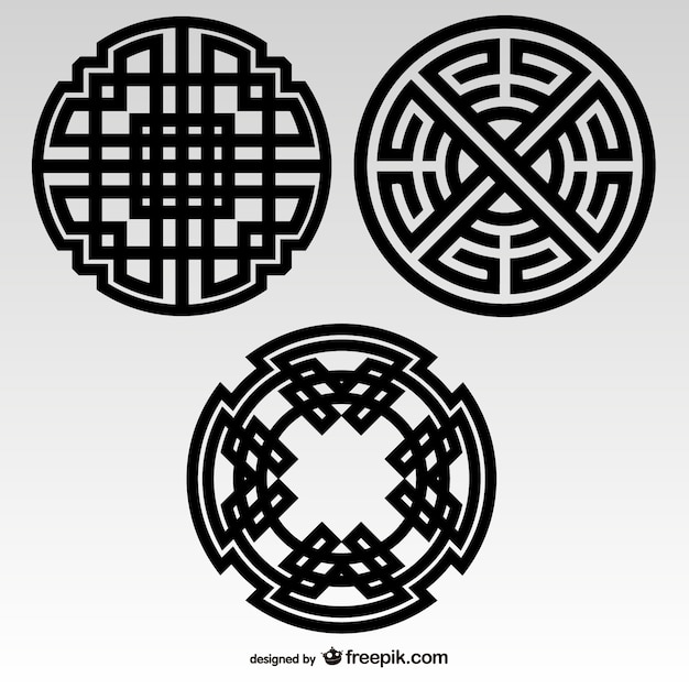 Nós celtas elementos tribais Vetor grátis