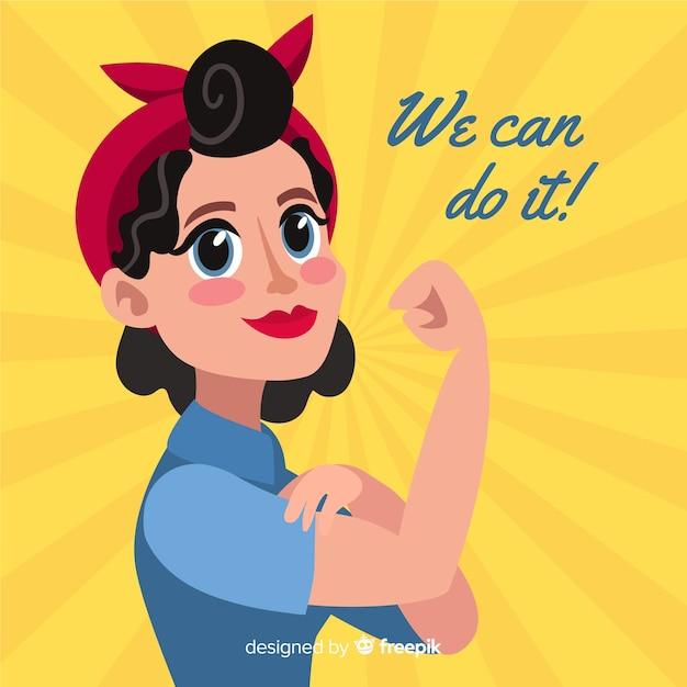 Nós podemos fazer isso! fundo Vetor grátis