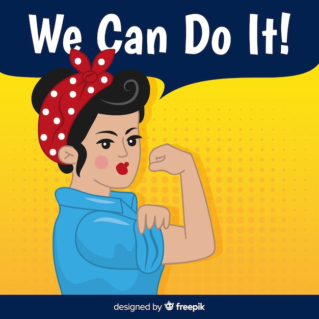 Nós podemos fazer isso! Vetor grátis