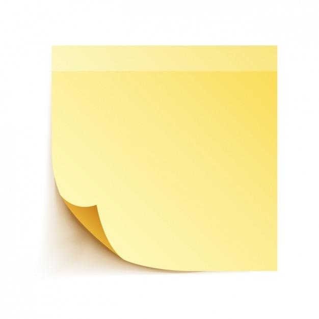Nota adesiva amarela Vetor grátis