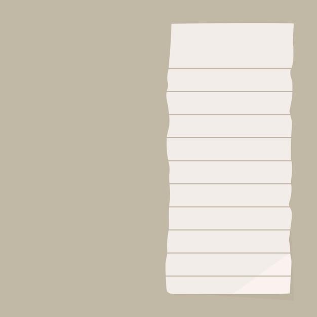 Nota de papel rasgada Vetor grátis