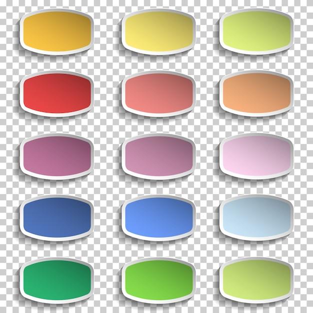 Nota papéis vetor de várias cores Vetor Premium