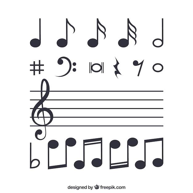 Notas musicais Vetor grátis