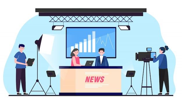Noticiário de tv Vetor grátis