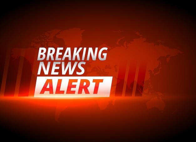 Notícias de última hora alerta fundo no tema vermelho Vetor grátis