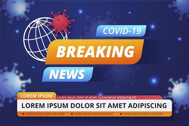 Notícias de última hora sobre o coronavírus Vetor grátis