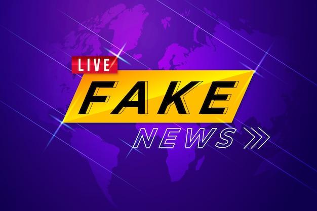 Notícias falsas de modelo de banner Vetor Premium