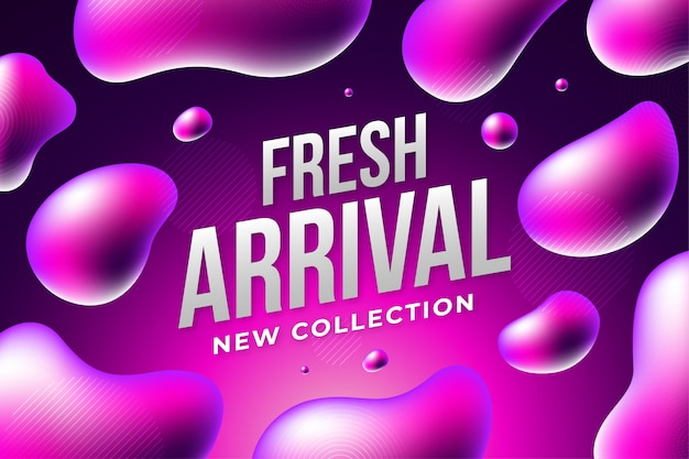 Nova chegada Vetor Premium