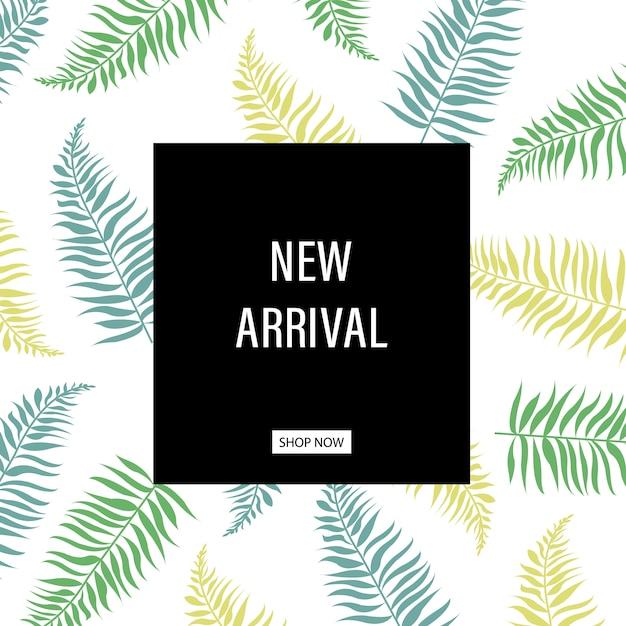 Nova coleção pôster Vetor Premium