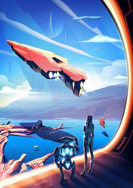 Nova ilustração do conceito de civilização Vetor Premium