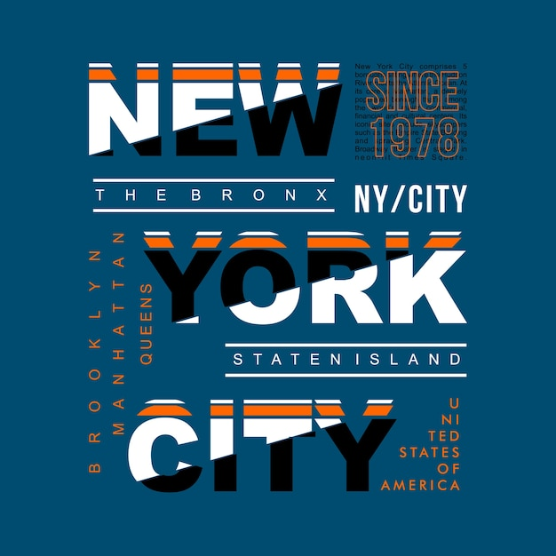 Nova imagem cool design de nova york Vetor Premium