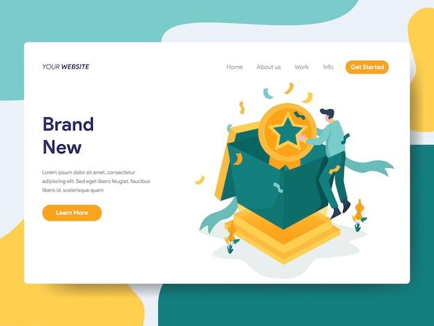 Nova marca para a página do site Vetor Premium