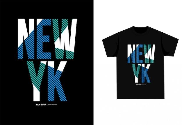 Nova york - camiseta gráfica para impressão Vetor Premium
