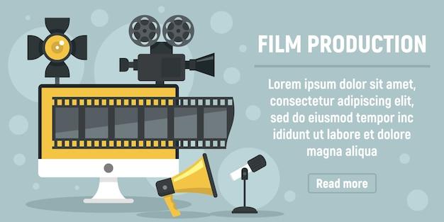 Novo banner de produção de filme, estilo simples Vetor Premium