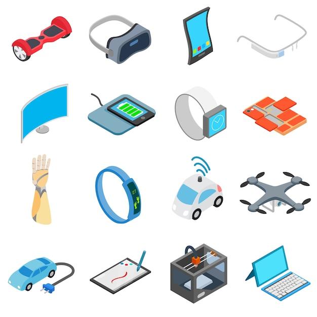 Novo conjunto de ícones de tecnologia Vetor Premium