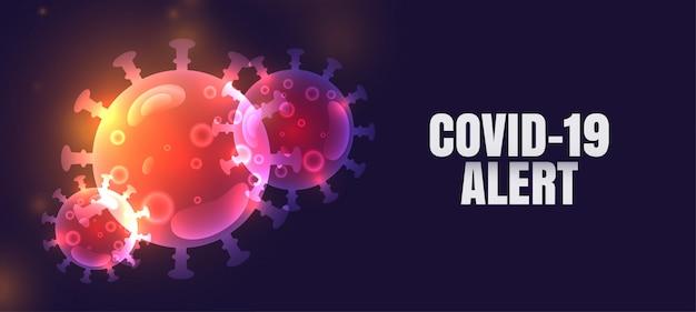 Novo design de banner de alerta pandêmico de coronavírus covid-19 Vetor grátis