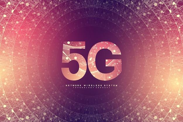 Novo fundo de conexão wi-fi de internet sem fio. Vetor Premium