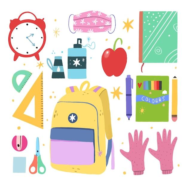 Novo material escolar normal Vetor grátis