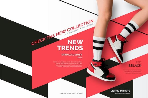 Novo modelo de banner de coleção Vetor grátis