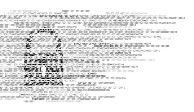 Número de código binário do sinal de guarda de bloqueio digital, big data Vetor Premium