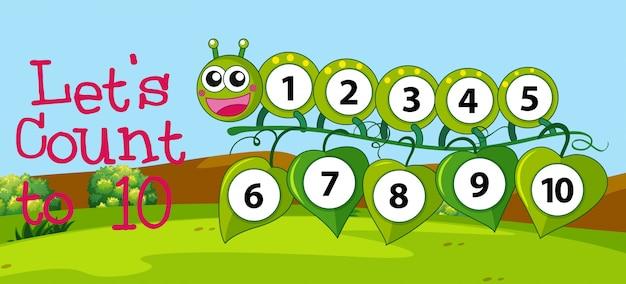 Número de contagem de matemática para dez Vetor grátis