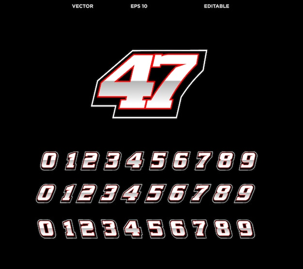 Número de corrida Vetor Premium