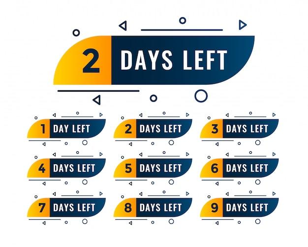 Número de dias de memphis de símbolos à esquerda Vetor grátis