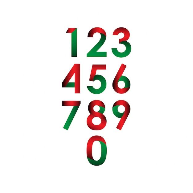 Número definido vetor modelo design ilustração Vetor Premium
