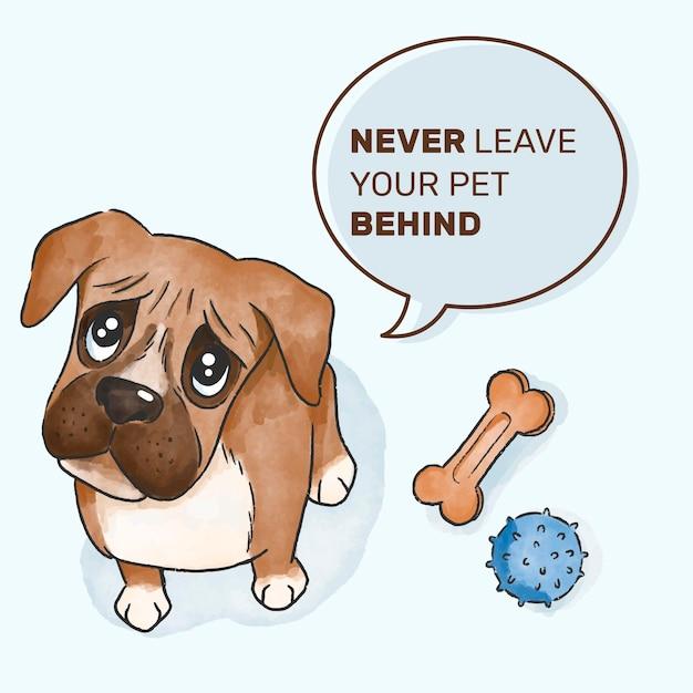 Nunca abandone o seu conceito de animal de estimação Vetor grátis