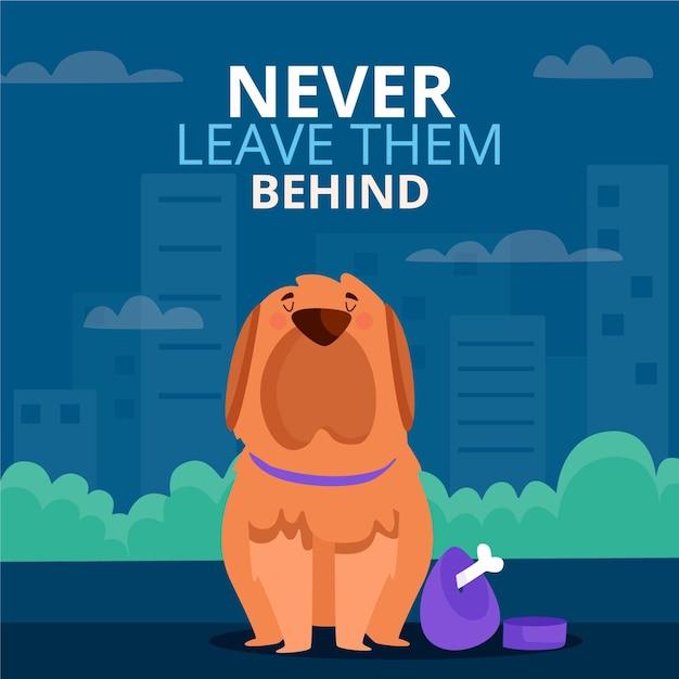 Nunca deixe seu animal de estimação para trás Vetor grátis