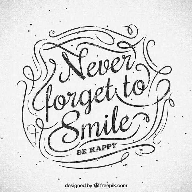 Nunca esqueça sorrir o fundo Vetor grátis