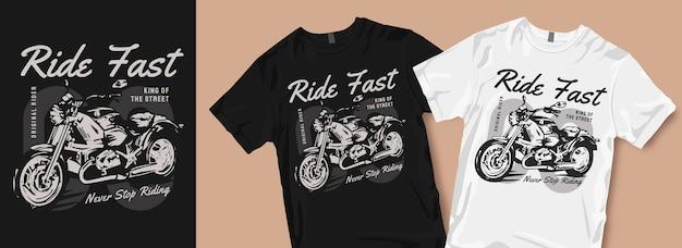 Nunca pare de montar produtos de design de camisetas Vetor Premium