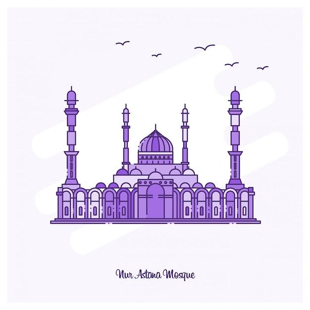 Nur astana mosque landmark Vetor grátis