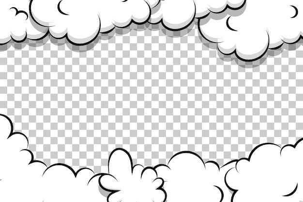Nuvem de sopro de desenho animado Vetor Premium