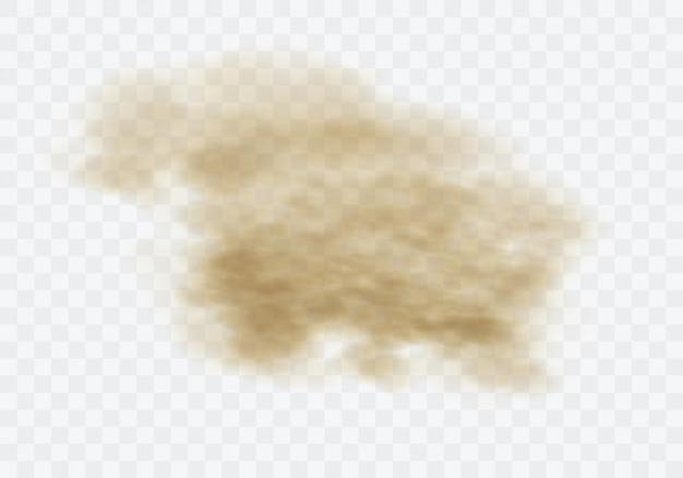 Nuvem empoeirada marrom Vetor grátis