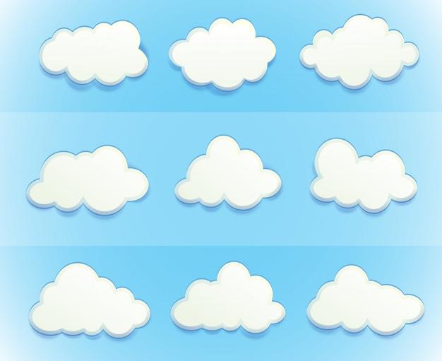 Nuvens no céu Vetor grátis