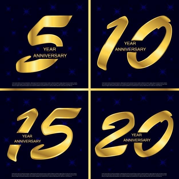 O aniversário numera o set Vetor grátis