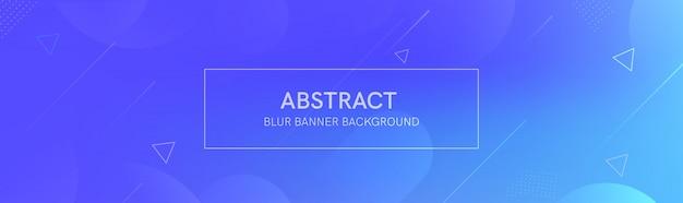 O banner abstrato com as formas de gradiente e o desfoque de fundo com cores claras. a composição dinâmica da forma. Vetor Premium