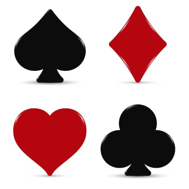 O baralho de cartas de ternos Vetor Premium