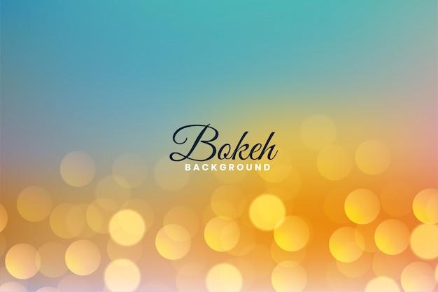 O bokeh agradável bonito ilumina o fundo colorido Vetor grátis