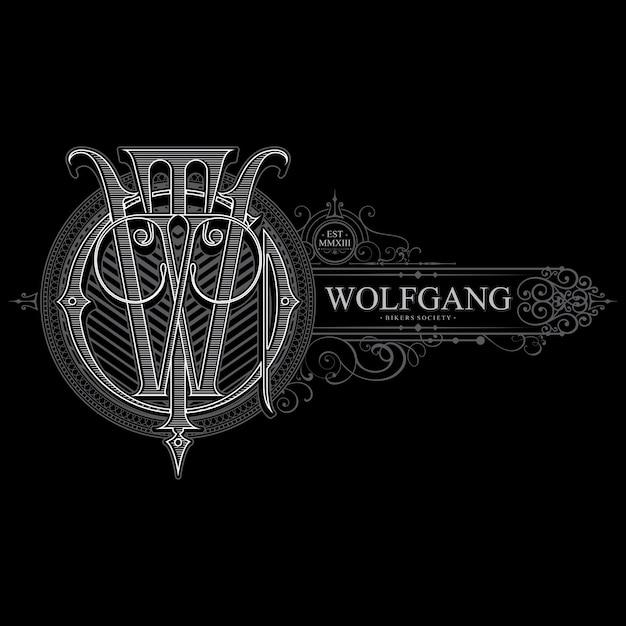 O capítulo da gangue do lobo Vetor Premium