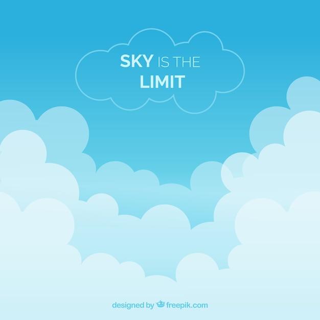 O céu é o limite de fundo Vetor grátis