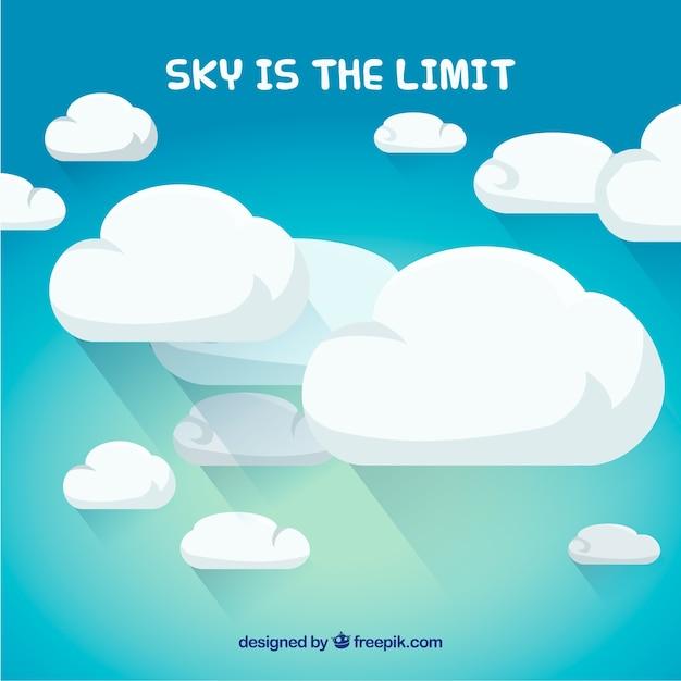 O céu é o limite Vetor grátis