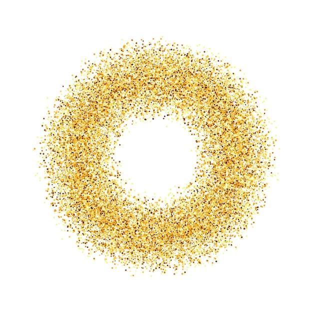 O círculo de areia dourada. . Vetor Premium