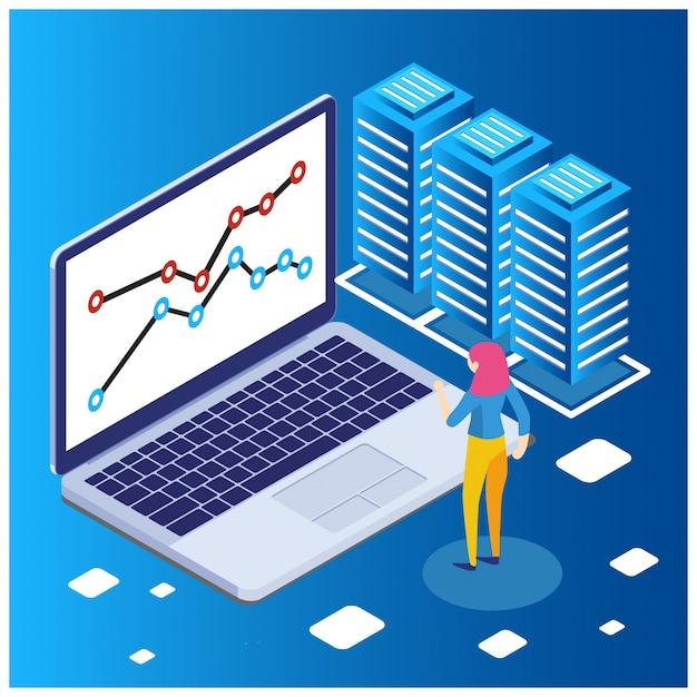 O conceito de estratégia de negócios Vetor Premium