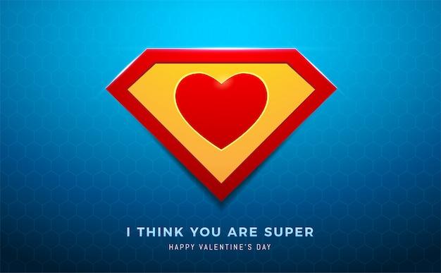 O coração super Vetor Premium