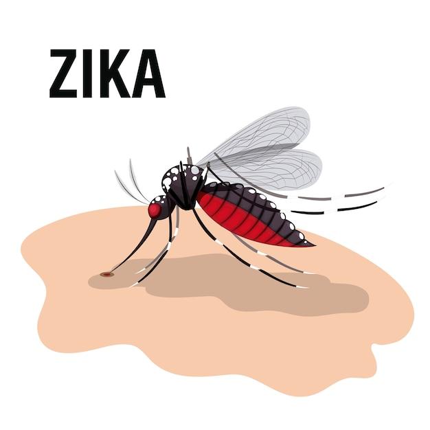 O design do vírus zika Vetor Premium